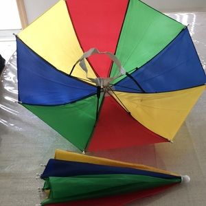 Umbrella Hat bundle of 2for kids and adults alike.